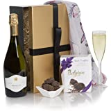 Prosecco & Chocolate Mother's Day Hampers - Luxury Prosecco & Chocolate Truffles Hampers For Mothers Day - Premium Wine Gift Box Range For Her