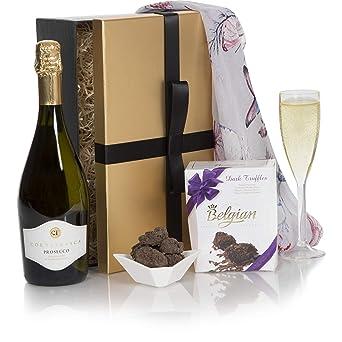 Prosecco Chocolate Hamper Luxury Prosecco Chocolate Truffles Hampers For Birthday Gift Premium Wine Gift Box Range For Her