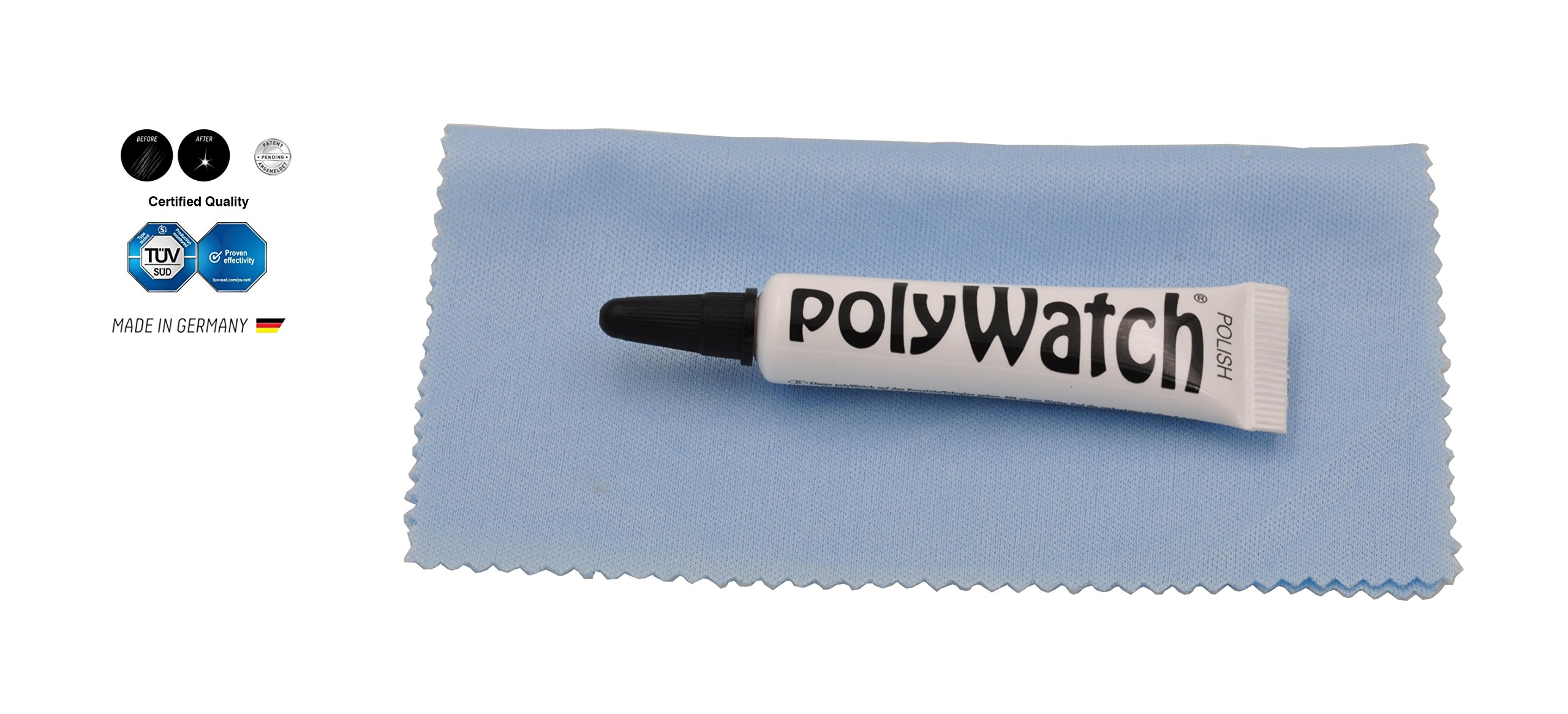 Polywatch Poly Watch Plastic Crystal Glass Polish & Scratch Remover Repair Tool With Yellow Cloth