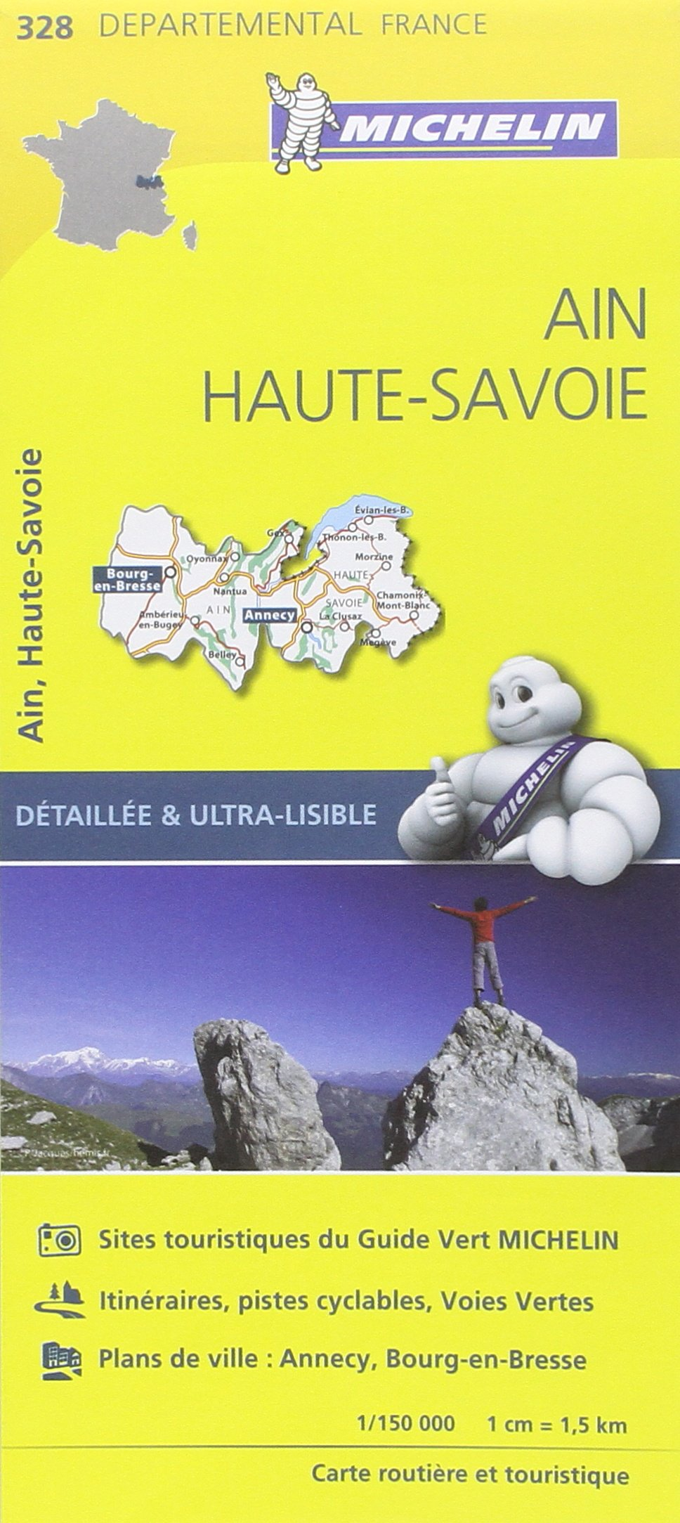 AIN / HAUTE - SAVOIE 11328 CARTE ' LOCAL ' ( France ) MICHELIN KAART