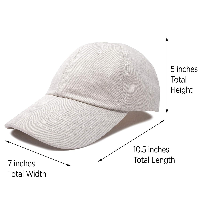3f6ec597116d07 DALIX Unisex Youth Childrens Cotton Cap Adjustable Plain Hat - Unstructured  (Beige) at Amazon Men's Clothing store: