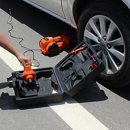 Amazon Com 12v Dc 1 Ton Electric Hydraulic Floor Jack Set With