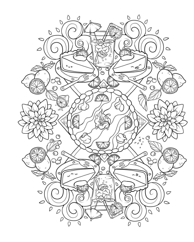 Whimsical designs coloring book - Amazon Com Cinnamon Bun Dreams A Comfort Food Coloring Book 9781682680322 Squishable Com Inc Books