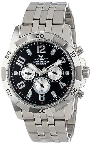 Viceroy 47651-15 - Reloj de Pulsera Hombre, Acero Inoxidable, Color Plata: Amazon.es: Relojes