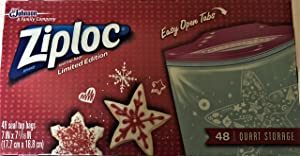 Ziploc Seal Top Bags Limited Holiday Edition 48 Quart Storage Bags