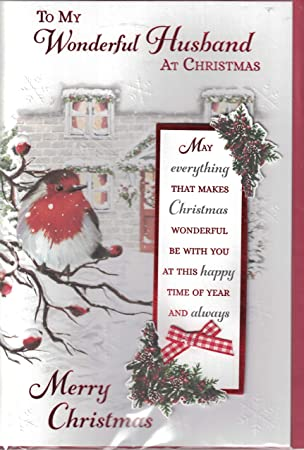Husband Christmas Cards.Prelude Husband Christmas Card Merry Christmas To My Special Husband Traditional Christmas Robin On Postbox Design Lovely Verse Quality Card
