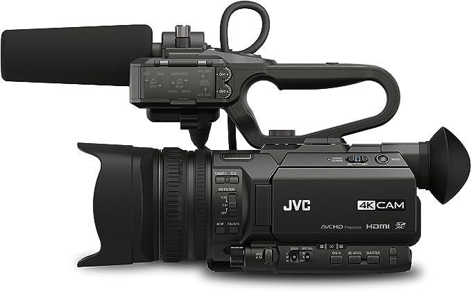 12,4 MP, CMOS, 25,4//2,3 mm , 12x, 24x, 4,67-56,04 mm 1//2.3 Videoc/ámara JVC GY-HM250E 12.4MP CMOS 4K Ultra HD Negro Soporte de
