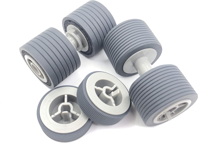 OKLILI PA03575-K011 PA03575-K012 PA03575-K013 Pick Roller Set Brake Roller Separator Roller Compatible with fi-6400 fi-6800 fi-7800 fi-7900 81A9UUrXE1L