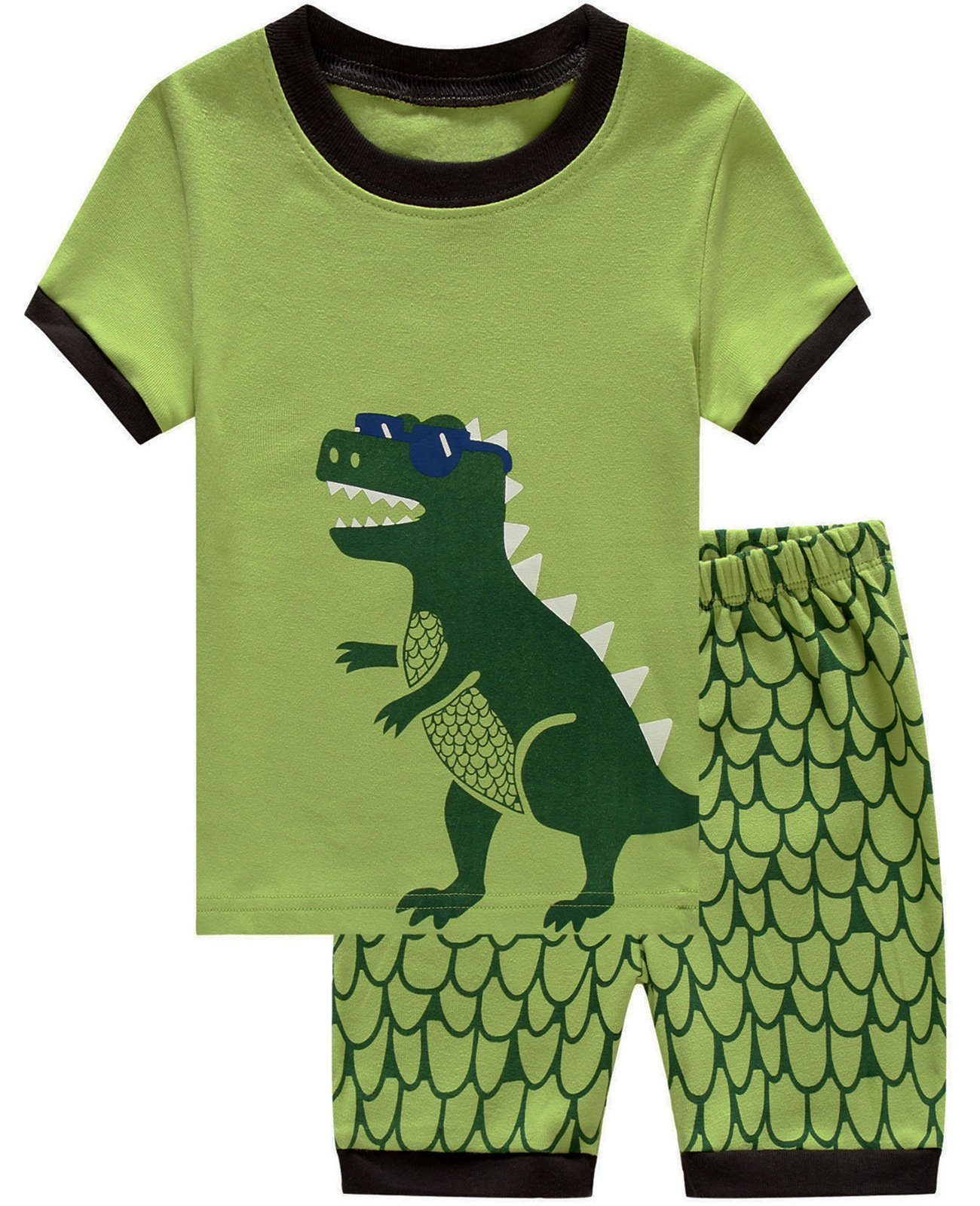 Babyroom Boys Short Pajamas Toddler Kids Sleepwear Summer Clothes Shirts 6T by Babyroom (Image #1)