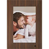 NIX Lux Digital Photo Frame 10 inch X10J, Wood. Electronic Photo Frame USB SD/SDHC. Clock and Calendar Function. Digital Picture Frame with Motion Sensor. Remote Control and 8GB USB Stick Included