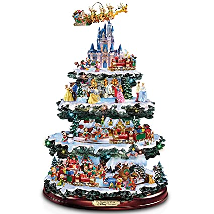 Disney Christmas Decorations.Bradford Exchange The Disney Tabletop Christmas Tree The Wonderful World Of Disney