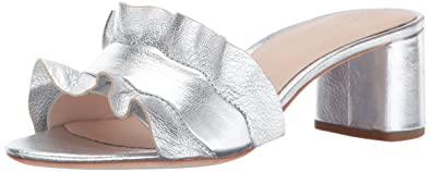 964828a7258 Loeffler Randall Women s Vera Ruffle Slide Sandal (Metallic Leather) Heeled