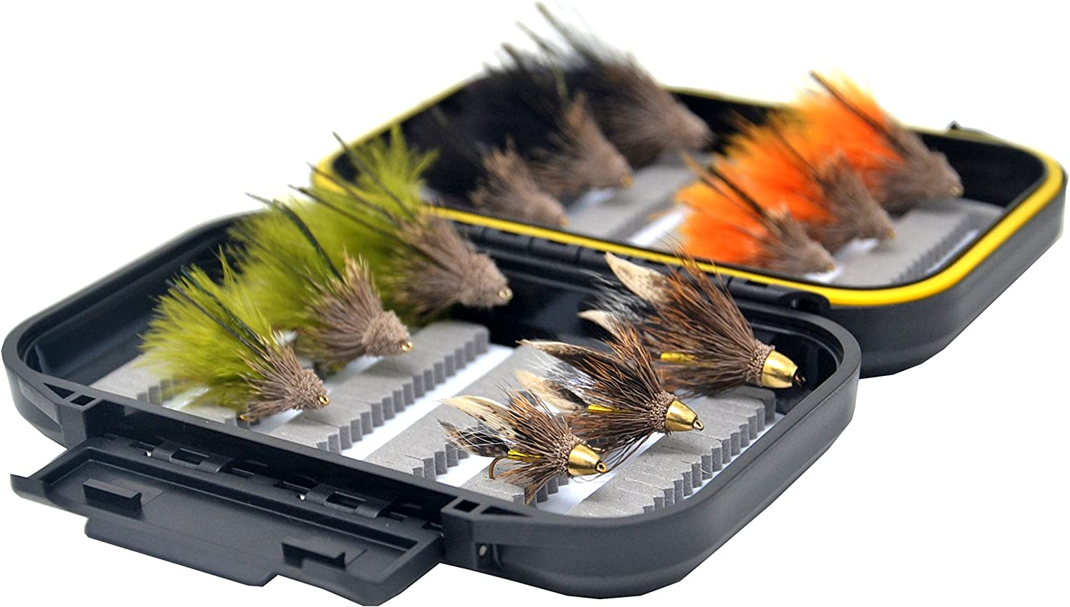 Waterproof Fly Box for Trout Fly Fishing Flies by Outdoor Planet Nymph and Streamer Fly Lure Assotment Go-to Dry Fly Wet Fly