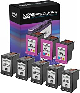 Speedy Inks Remanufactured Ink Cartridge Replacement for HP 901XL (5 Black and 3 Color, 8-Pack)
