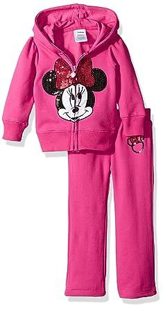 714352f32926 Amazon.com  Disney Baby Girls  Minnie Mouse 2 Pc Fleece Hoodie Set ...
