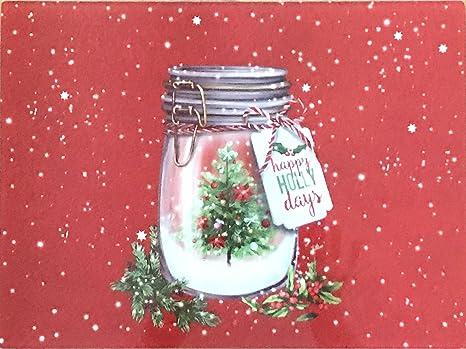 Christmas Board Design.Amazon Com Holiday Christmas Glass Cutting Board