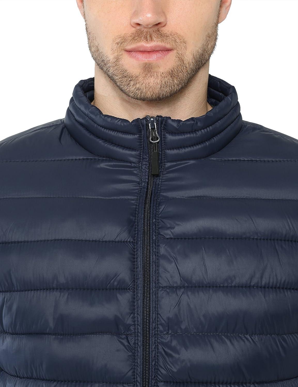 Lower East Giubbotto trapuntato da uomo con collo alto Blu (Navy)