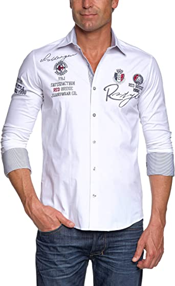 Redbridge R-2130 Camisa Regular Fit de Manga Larga para Hombre: Amazon.es: Ropa y accesorios