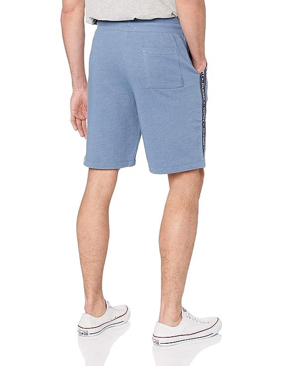 Tommy Hilfiger Hombre Pantalones Cortos de chándal de Pista, Azul ...