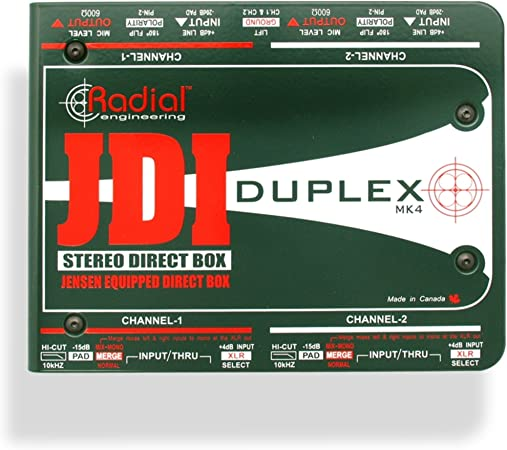 JDI Duplex zweikanalige DI-Box pasivo: Amazon.es: Instrumentos musicales