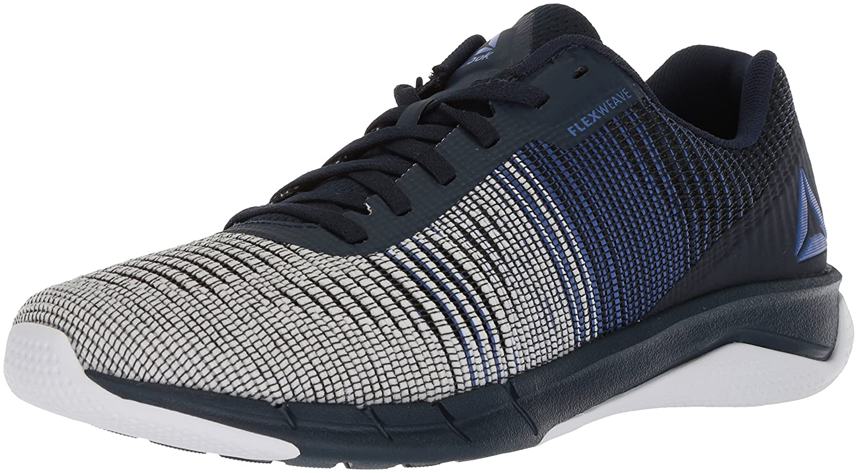 Reebok Men's Fast Flexweave Running zapatos, Acid azul Collegiate Navy blanco, 11 M US