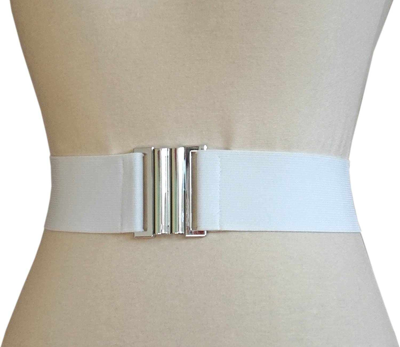 agrafa 5cm Damen Stretch Taillen Gummi G/ürtel Plastik Schnalle XS-XL