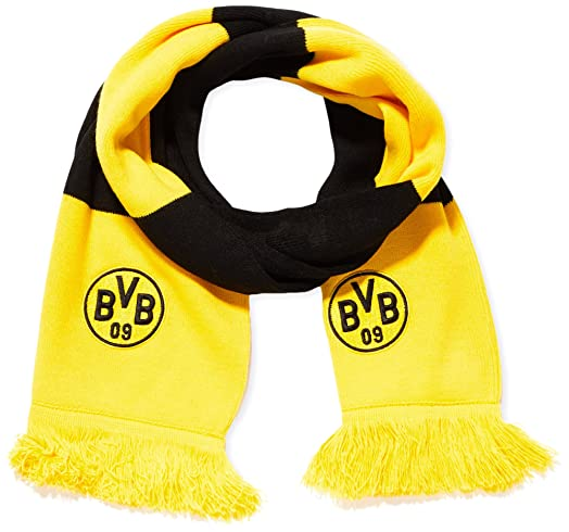 Puma BVB (Borussia Dortmund) Fan Scarf, Cyber Yellow/Black, One Size