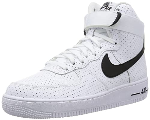 Nike Men's Air Force 1 High '07 Sneakers, Black (White/Black/