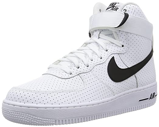 mens nike white & black air force 1 trainers hate