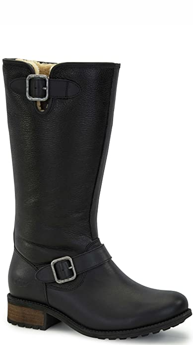 29c89d6c766 Amazon.com | UGG Women's Chancery Black Twinface/Leather Boot 12 B ...