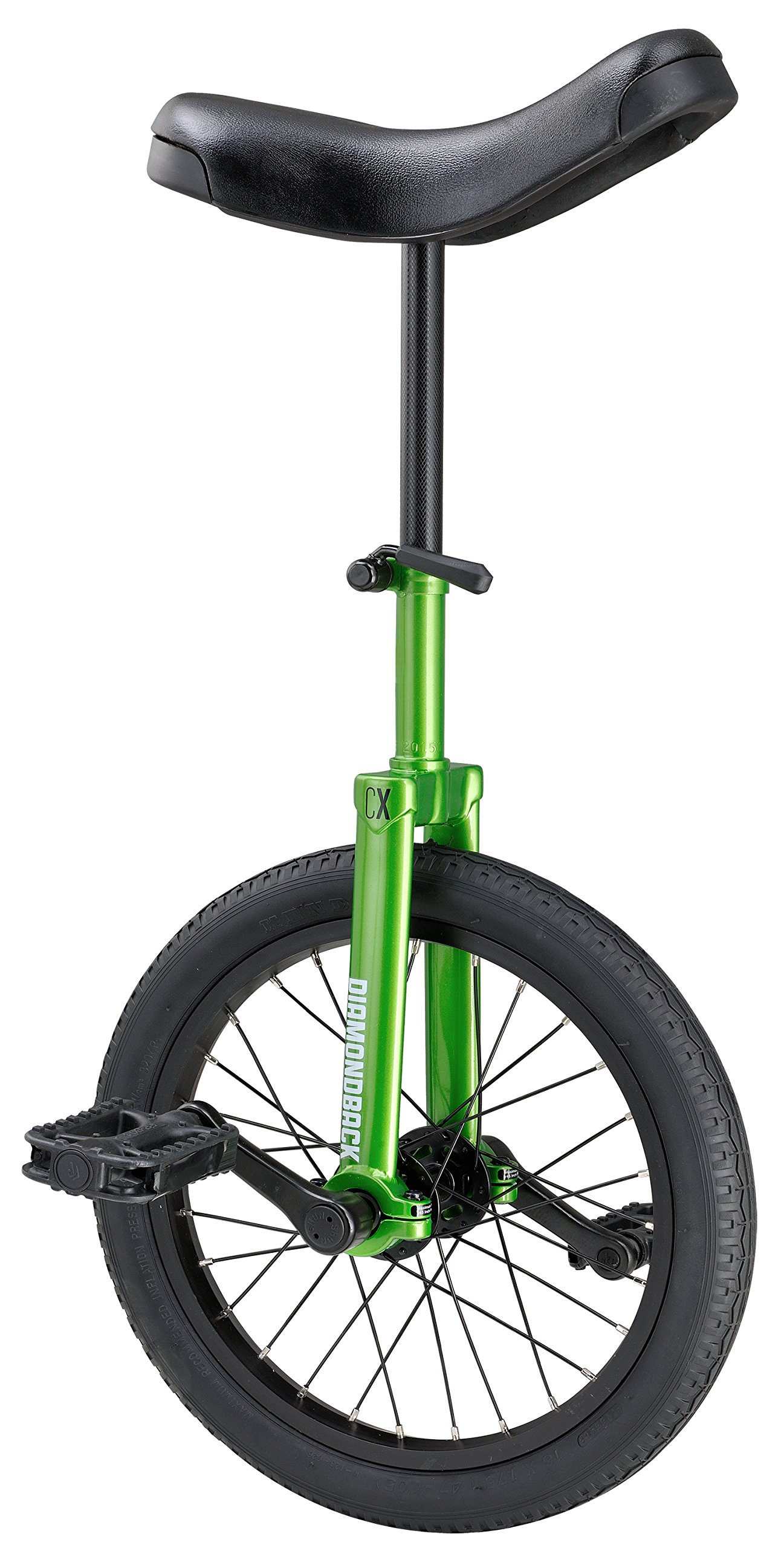 Diamondback Bicycles CX Wheel Unicycle, Green, 16''/One Size