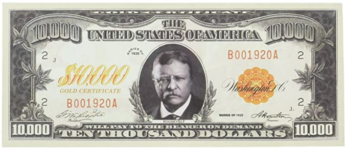 Amazon.com: Set of 100 - $10,000.00 Ten Thousand Dollar Gold ...