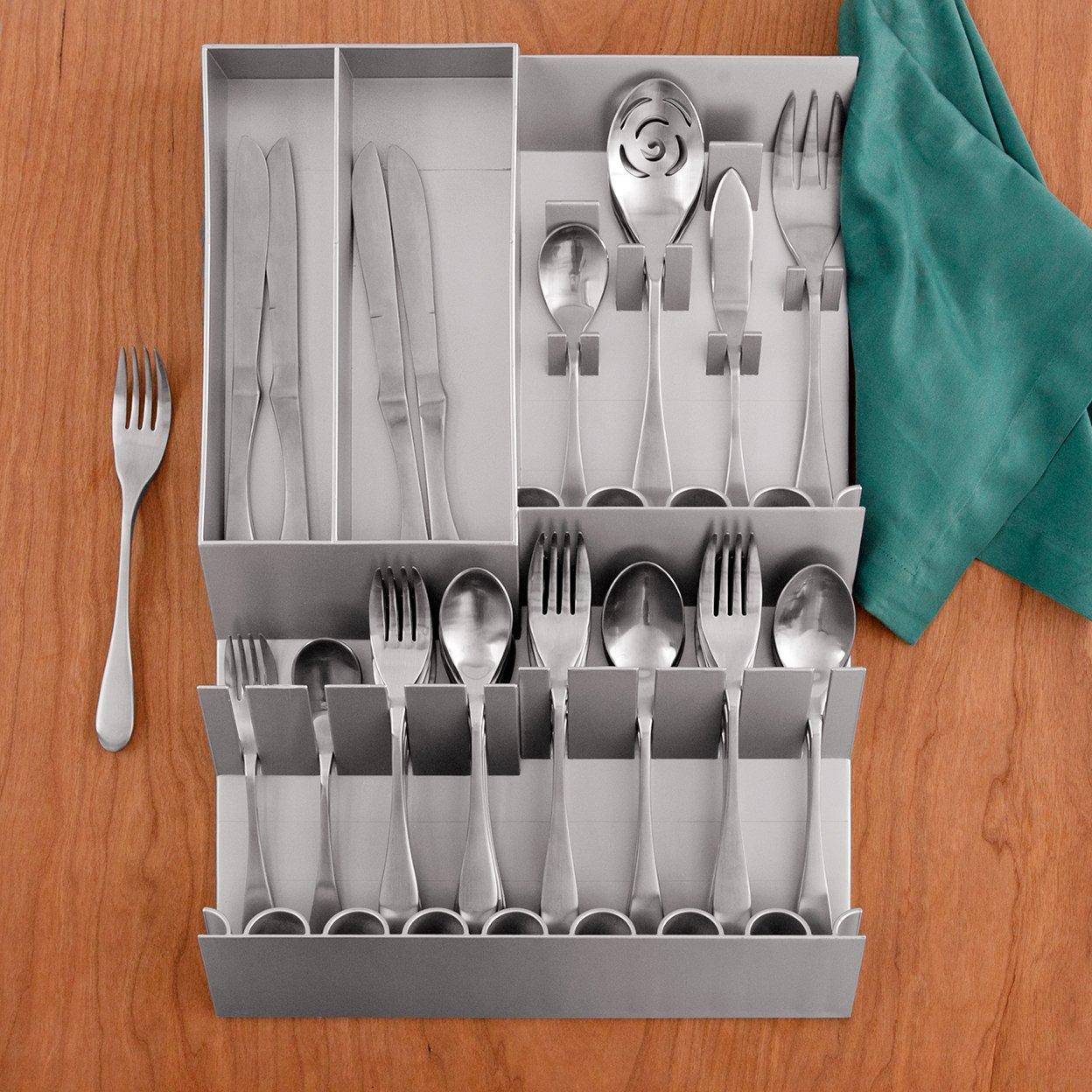 Charmant Amazon.com: Knork Flatware Storage Tray, Silver: Knork Flatware Storage  Tray: Kitchen U0026 Dining