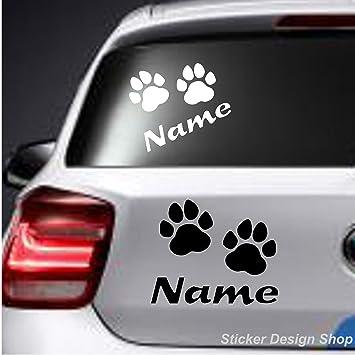 camion computer portatili ideale per auto da 10,16 cm a forma di cuore con impronta di zampa di cane pareti StickerBorough Adesivo in vinile disponibile in vari colori finestre