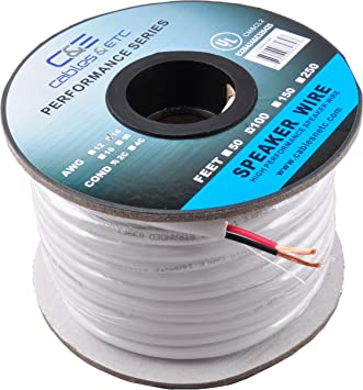 8AWG Speaker Wire CL8 in Wall Rated Oxygen Free Bare Copper 8 Feet  (8.8 Meters) 8.8% Oxygen Free Copper (OFC) 8 Conductor Loud Speaker Wire
