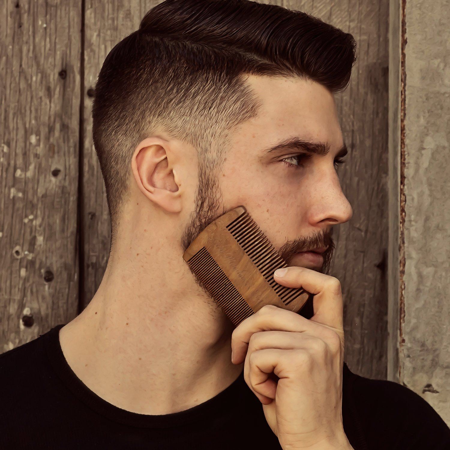 Beard Comb - Natural Sandalwood for Hair with Scented Fragrance Smell with Anti-Static - Handmade Fine Tooth Brush Best for Beard Moustache Packaged in Giftbox by Rocky Mountain Barber Company (Image #8)