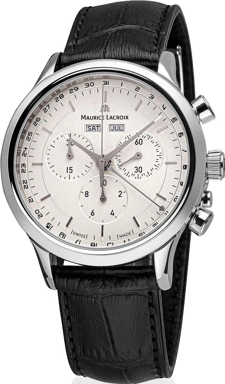 Maurice Lacroix Les Classiques - Reloj con cronógrafo LC1008-SS001-130