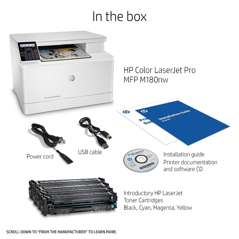 Amazon.com: HP Laserjet Pro M180nw Impresora láser a color ...