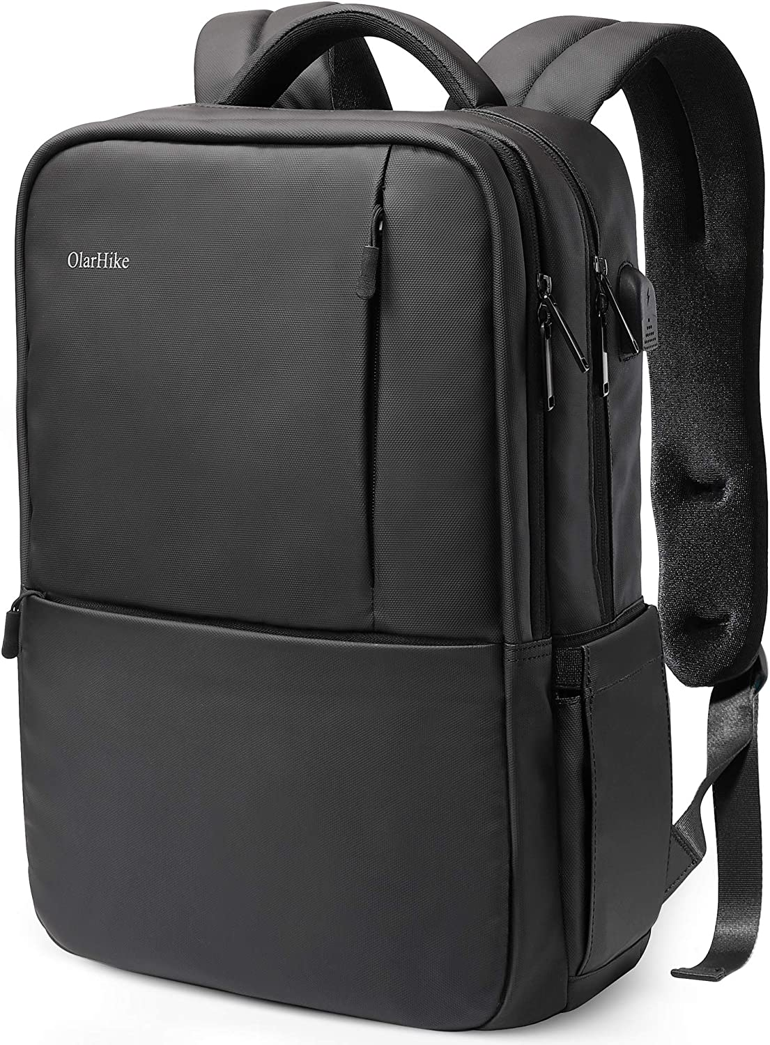 OlarHike Laptop Backpack with USB Charging Port and Thick Padded Sleeve Water Resistant College School Computer Backpack Fits up 15.6 Inch Laptop for Men Women: Electronics