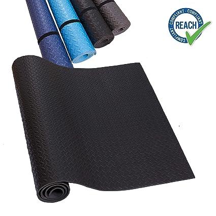 HD Fitness EVA Alfombra de Base de Cinta Negro Mat de Yoga Antideslizante y absorbentes del Sonido - Suelo de Gimnasio de protección para el Suelo,SGS ...