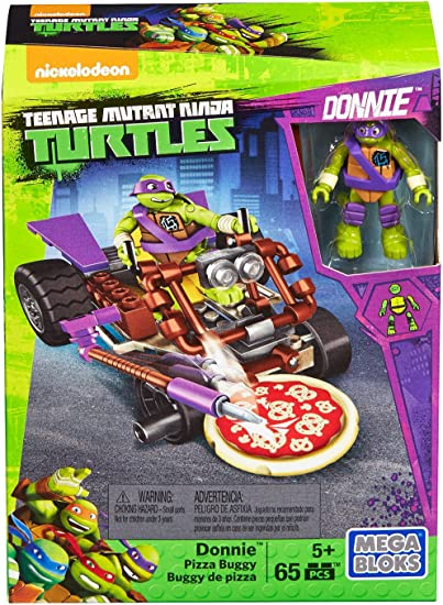 Mega Bloks Teenage Mutant Ninja Turtles Ninja Racers, Donatello Pizza Kart Slasher