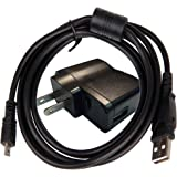 Safewatts EH-70P Compatible AC Adapter + USB Cable (6 feet) for Selected Nikon Coolpix Digital Cameras - Retail Packaging.