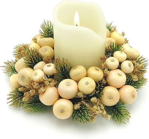 Corona de Navidad para Mesa, Anillo para Pilar Vela, Corona ...