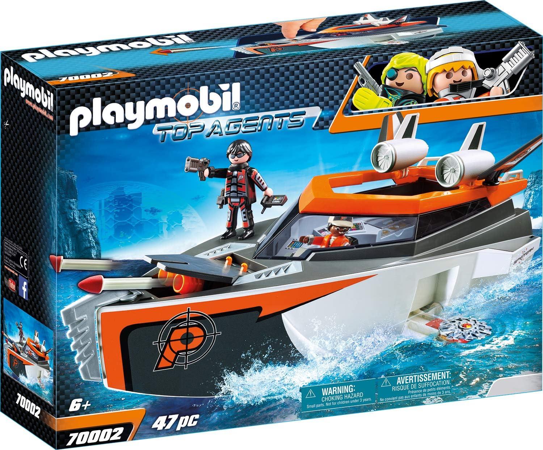 PLAYMOBIL Top Agents Spy Team Turbonave, A partir de 6 años (70002)