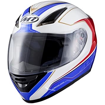 MT Revenge Evo Motorcycle Helmet XS White/Blue/Red