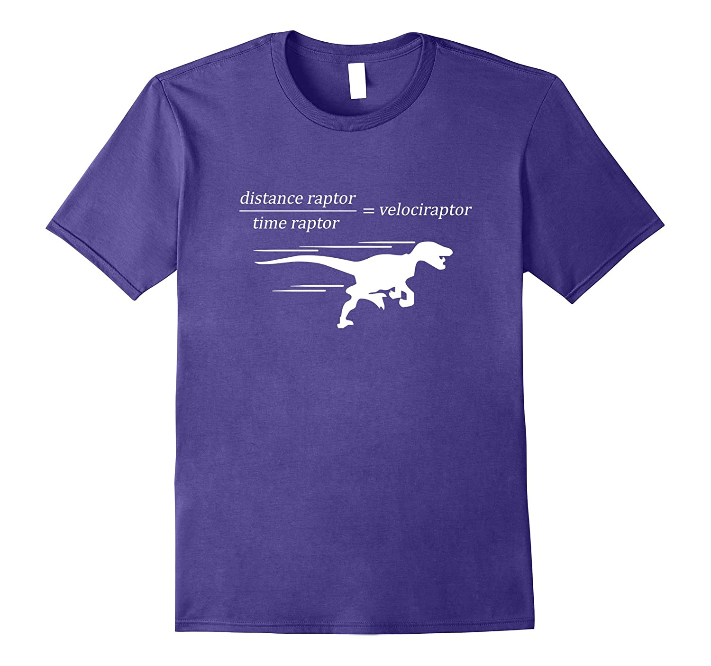 Velociraptor Time raptor distance raptor math t-shirt-T-Shirt