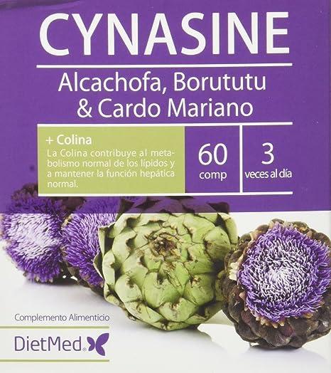 DietMed Cynasine, Complemento Alimentico con Alcachofa, Borututu y Cardo Mariano, 60 Cápsulas