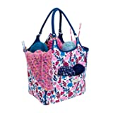 Everything Mary Deluxe Yarn Carry Organizer Project Caddy Organizer Storage Tote - Large Premium Case for Knitting, Yarn, Crotchet - Yarn & Notions Organization - Tangle Free Yarn Caddy Organizer for