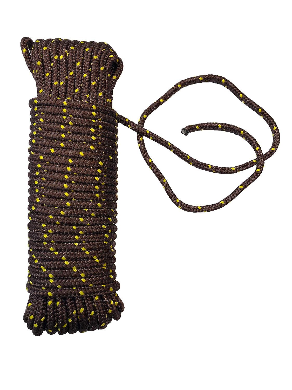 Corde polypropyl/ène 8 mm x 20 m orange//jaune//noir Laisse amarrage charge de rupture: 700 Kg cordes polypropylene corde multifonctionnelle