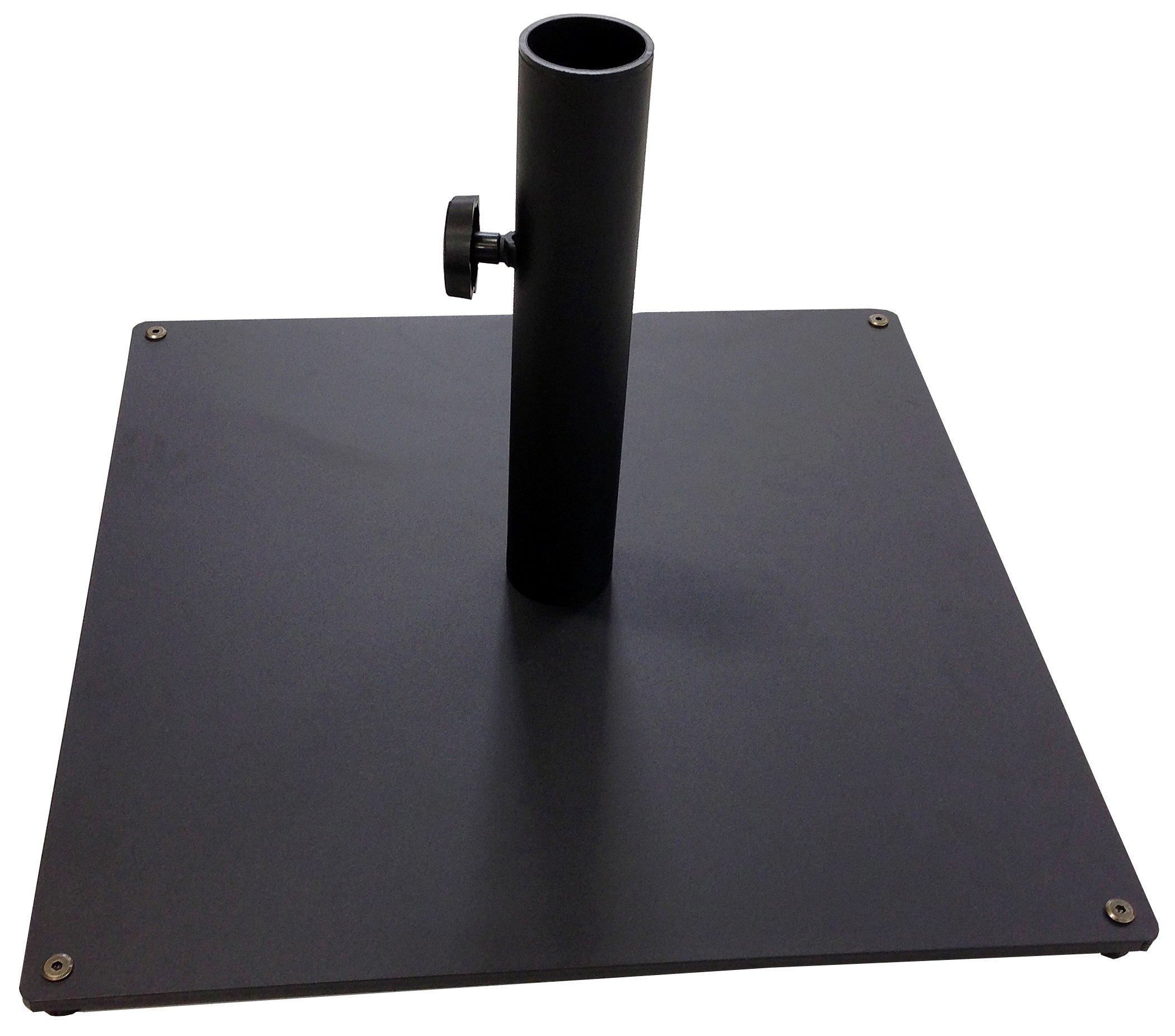 Tropishade Steel Plate Umbrella Base, 36 lbs, Black by Tropishade